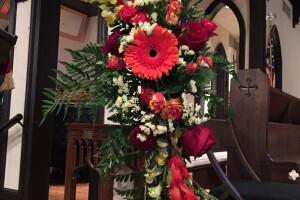 Pentecost flowers 2015