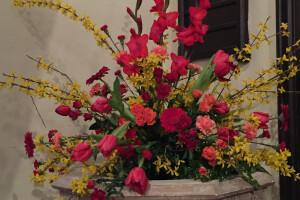 Easter flowers font 2016