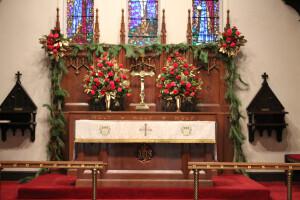 Altar flowers Christmas 2017