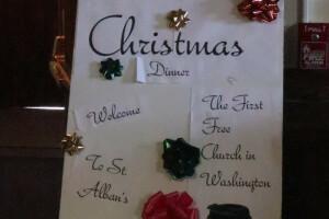 Christmas dinner sign 2017